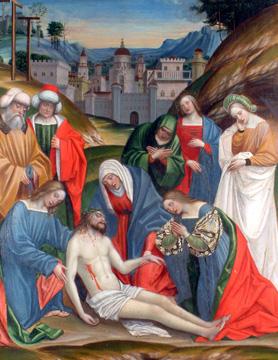 Gerolamo Giovenone Compianto sul Cristo morto